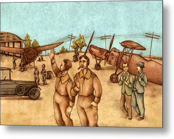 Classical Planes 2 Metal Print by Autogiro Illustration