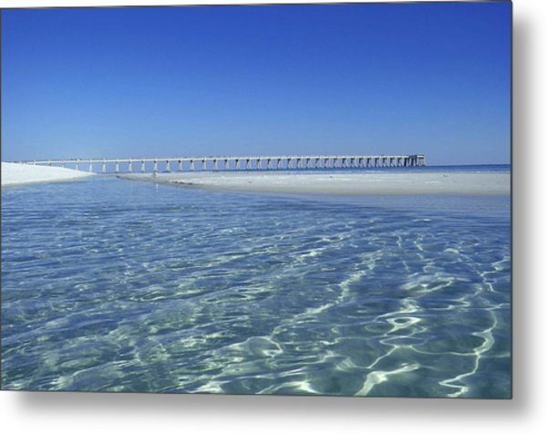 Clear Day At The Pier Metal Print