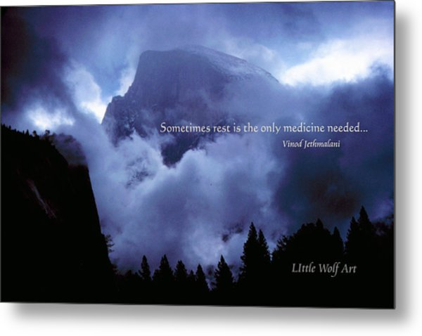 Clearing Storm Half Dome Metal Print