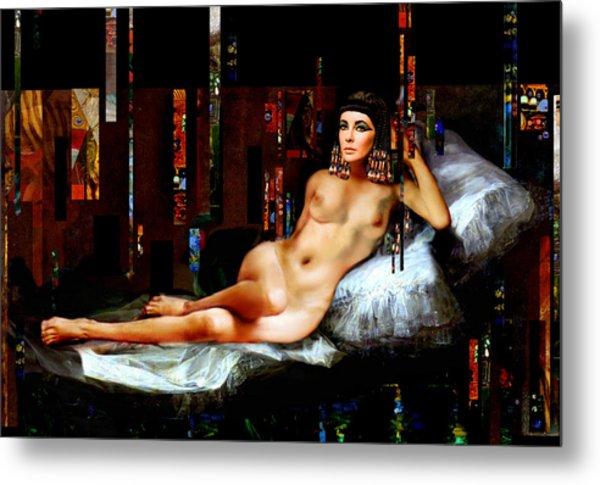 Cleopatra Nude Metal Print