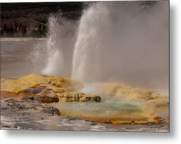 Clepsydra Geyser Yellowstone National Park Metal Print