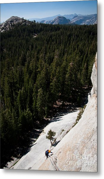 Climber In Yosemite Metal Print