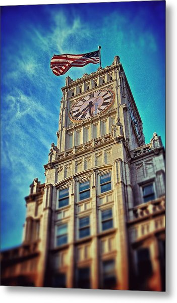 Clock Tower In Downtown Jackson 1 Metal Print