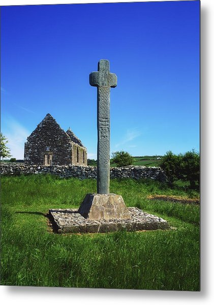 Cloncra Church, Inishowen Peninsula Metal Print by The Irish Image Collection