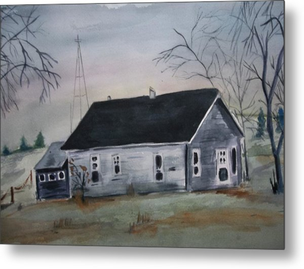 Closed For The Winter Metal Print