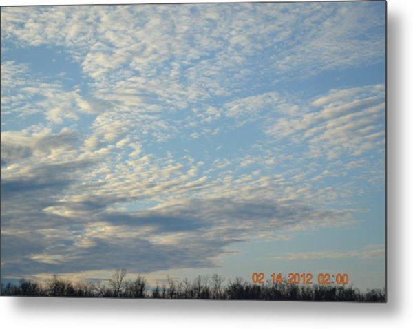 Clouds Before A Storm Metal Print by Heidi Frye