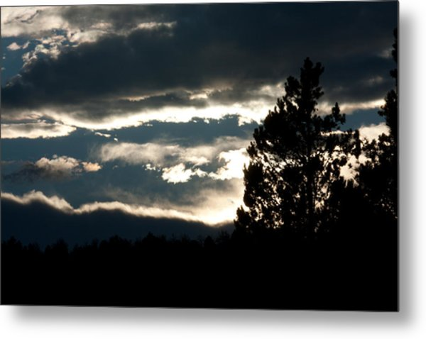 Clouds Giving Way To Sunset Metal Print by Jessica Lowell