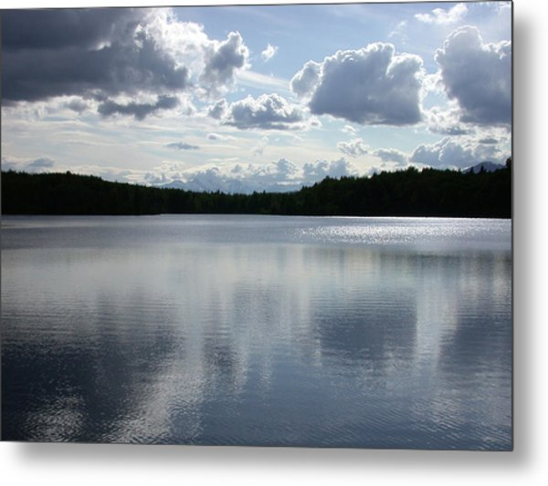 Clouds Over Lake Metal Print