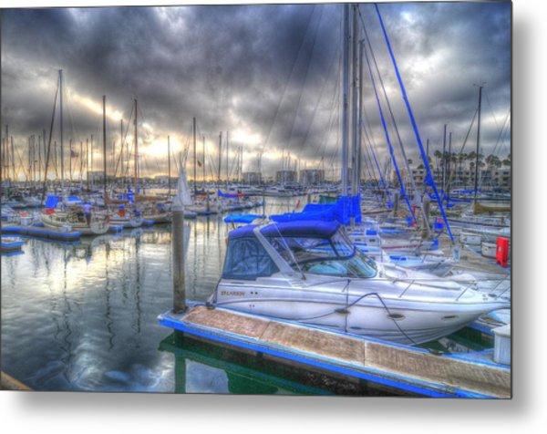 Clouds Over Marina Metal Print