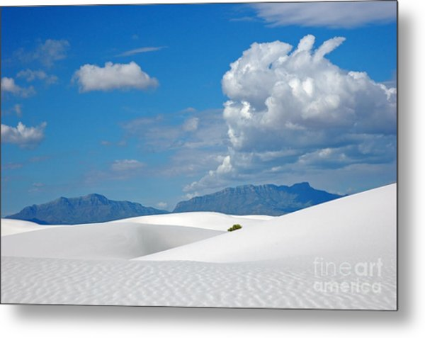 Clouds Over The White Sands Metal Print