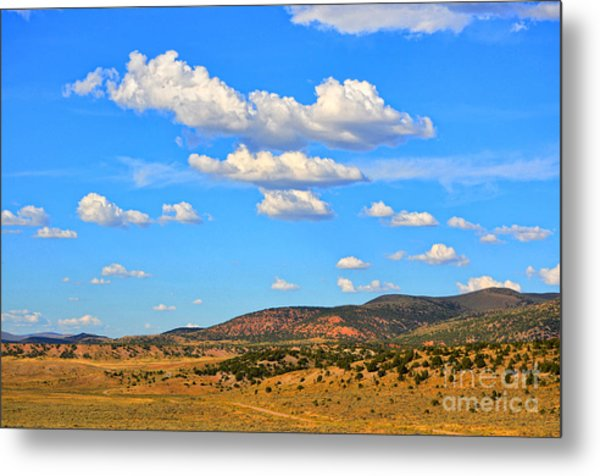 Cloudy Wyoming Sky Metal Print