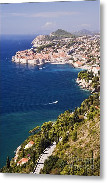 Coastal View Of The Old Town Of Dubrovnik Metal Print by Jeremy Woodhouse