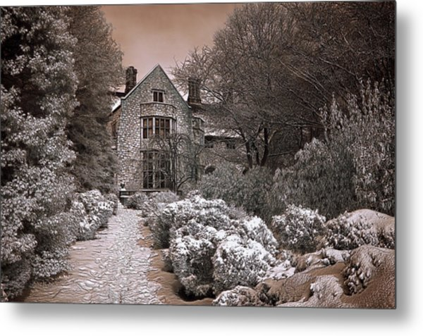 Coe Hall In Winter Metal Print