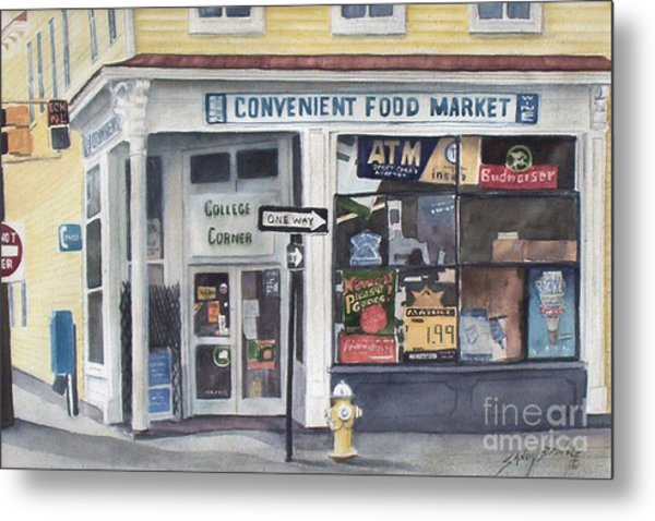 College Corner Original...sold Metal Print