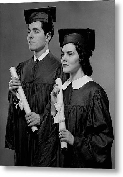 College Graduation Metal Print by George Marks