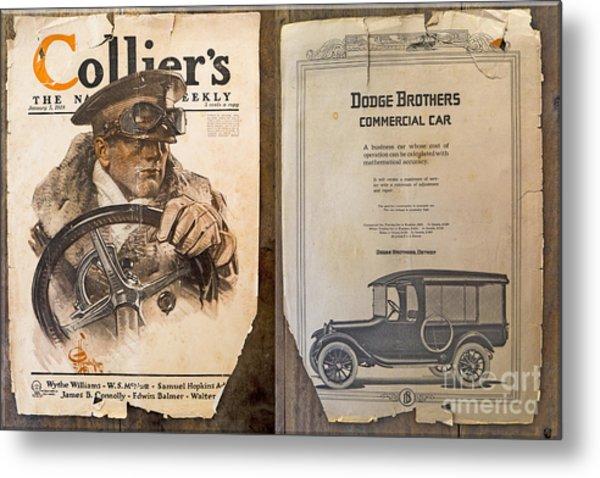 Colliers Cover Both Sides Jan 5 1918 Metal Print by Roy Foos