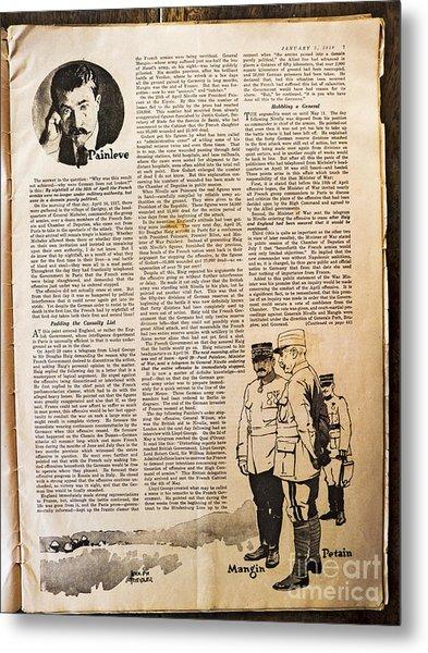 Colliers Jan 5 1918 Pg 7 Metal Print by Roy Foos