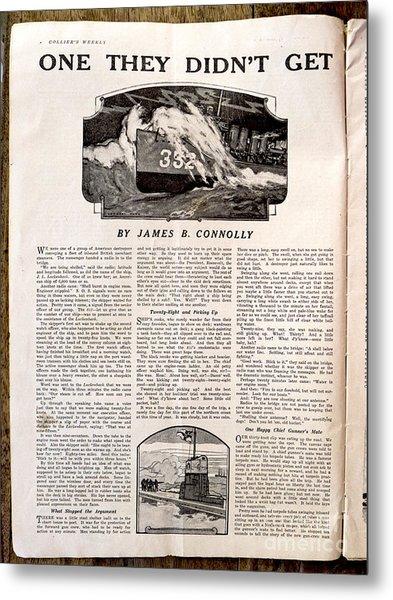 Colliers Jan 5 1918 Pg 8 Metal Print by Roy Foos