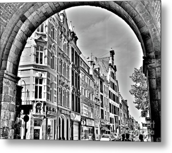 Cologne On The Rhine In Germany Metal Print