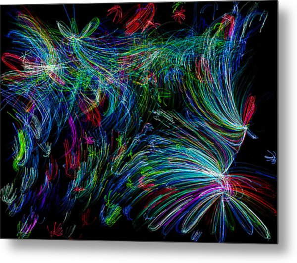 Color Chaos Metal Print