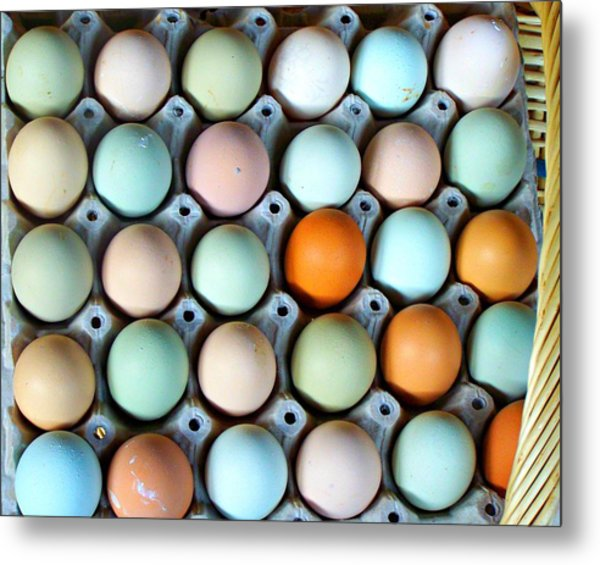 Color Eggs  Metal Print