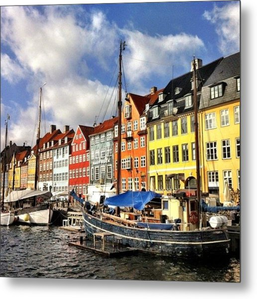 Color In Copenhagen Metal Print