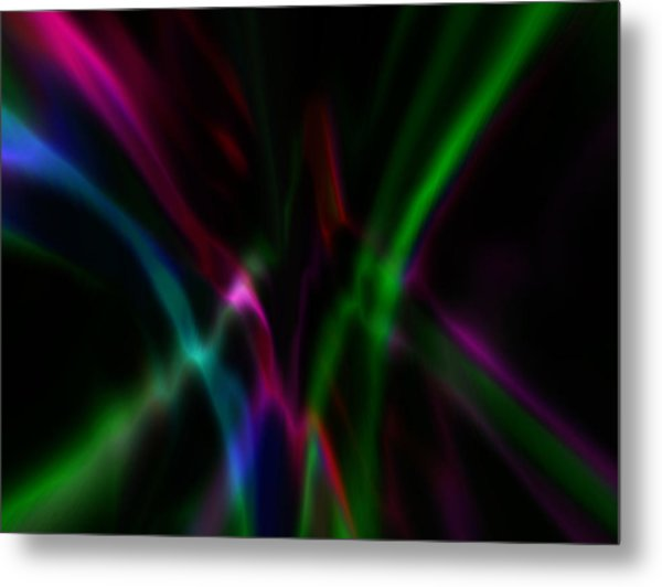 Metal Print featuring the digital art Color Rays by Mihaela Stancu