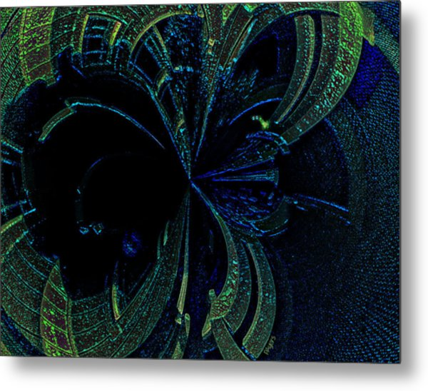 Color Study 02 Green Blue Metal Print