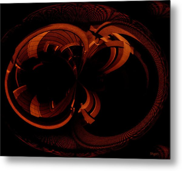 Color Study 03 Rust Metal Print