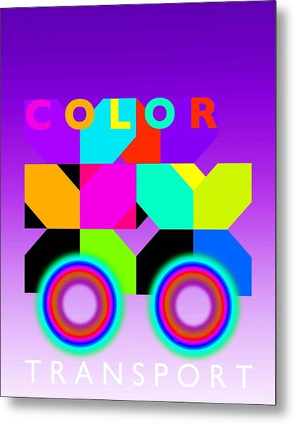Color Wheels Metal Print