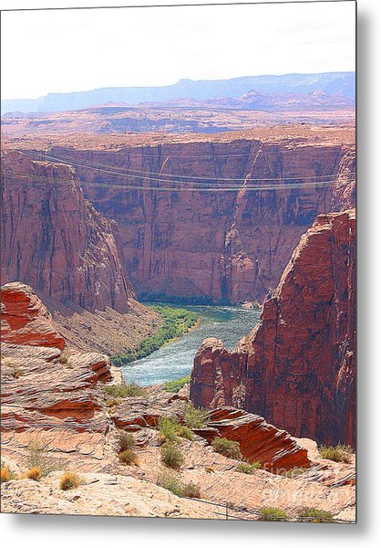 Colorado River In Arizona Metal Print by Merton Allen