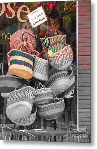 Colored Baskets Metal Print by David Bearden