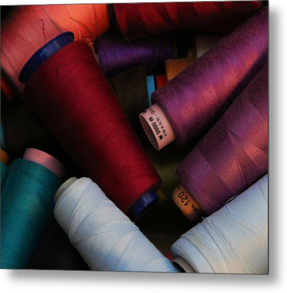 Colored Thread Metal Print by Odd Jeppesen