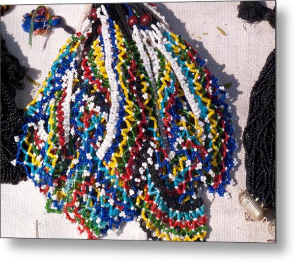 Colorful Beads Jewelery Metal Print