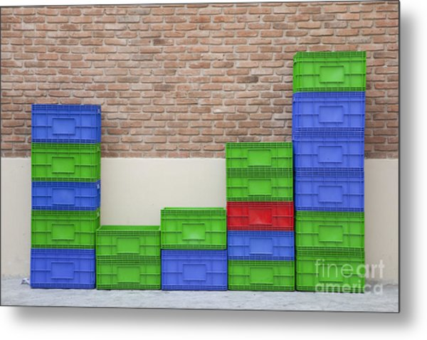 Colorful Beer Crates Metal Print by Chavalit Kamolthamanon