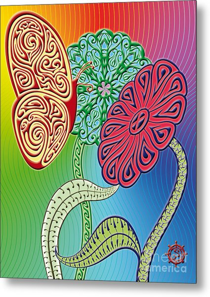 Colorful Butterfly Metal Print by Santi Goma Rodriguez