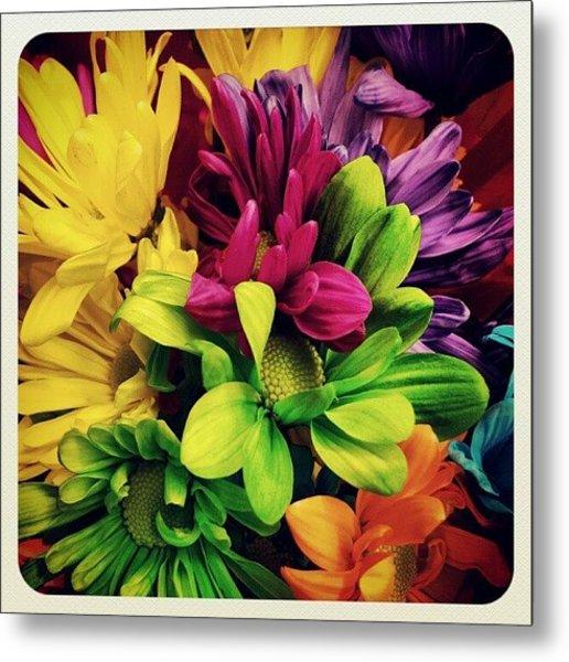 #colorful #flowers Metal Print