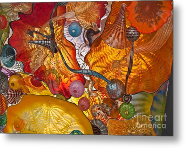 Colorful Glass Still Life Metal Print