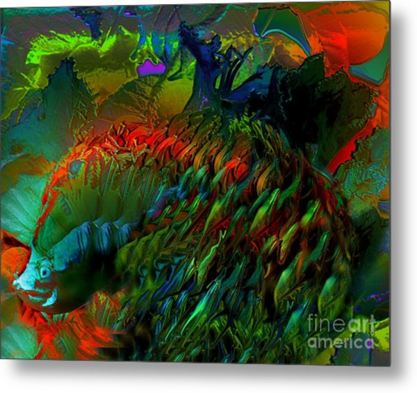 Colorful Hedgehog Metal Print by Doris Wood
