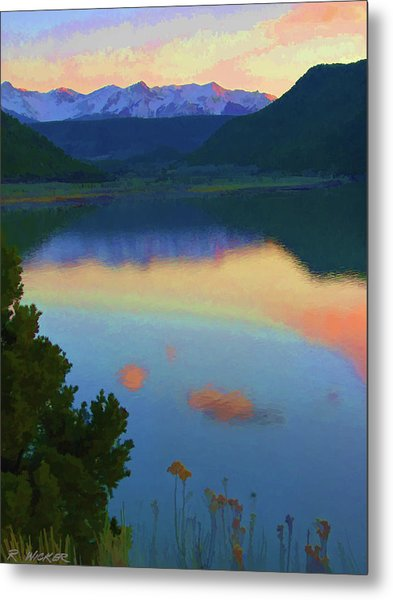 Colorful Lake Sunset Metal Print