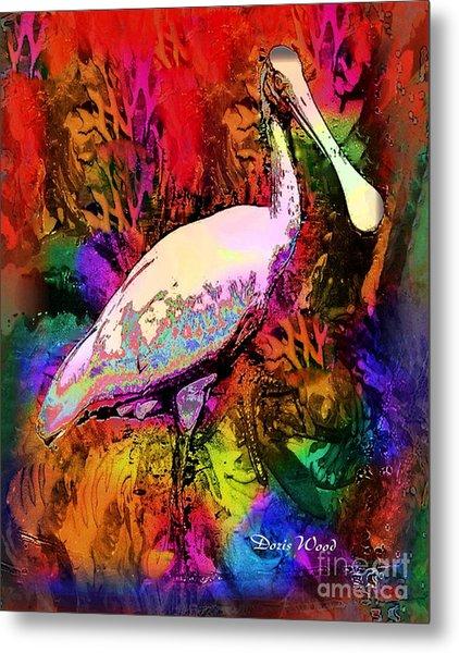 Colorful Spoonbill Metal Print by Doris Wood