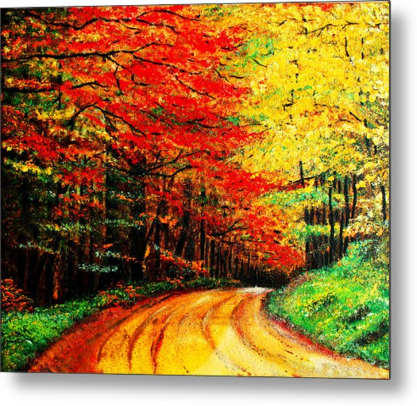 Colorful Tree Leaves Metal Print by Nelson