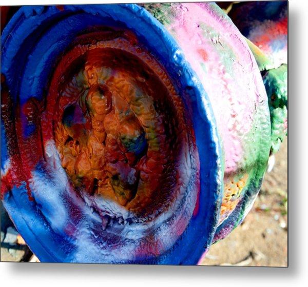 Colorful Wheel Metal Print by Malania Hammer