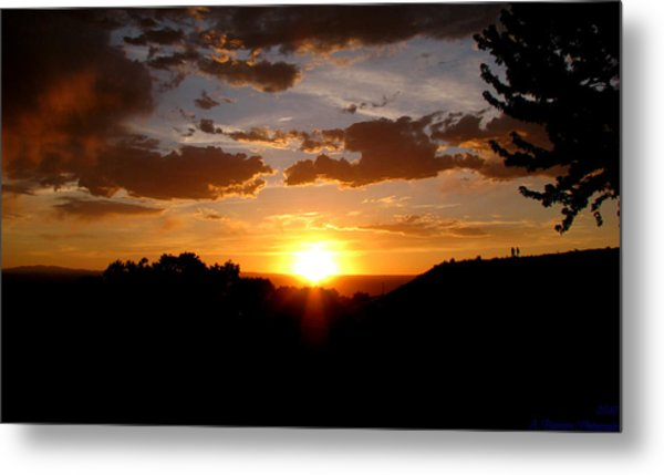 Colors Of A Setting Sun Metal Print by Aaron Burrows