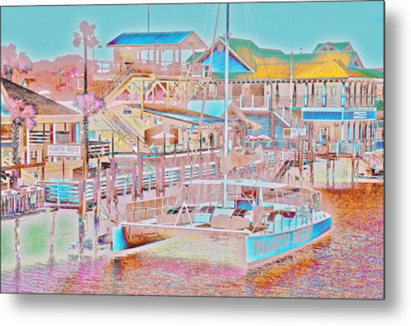 Colors Of Shem Creek Sc Metal Print