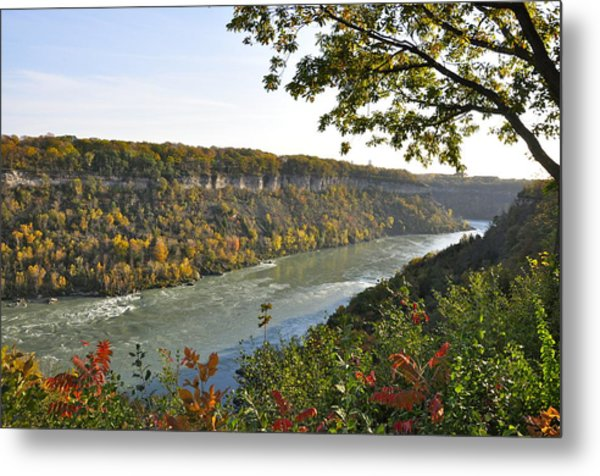 Colours Of The Fall In The Niagara Glen Metal Print