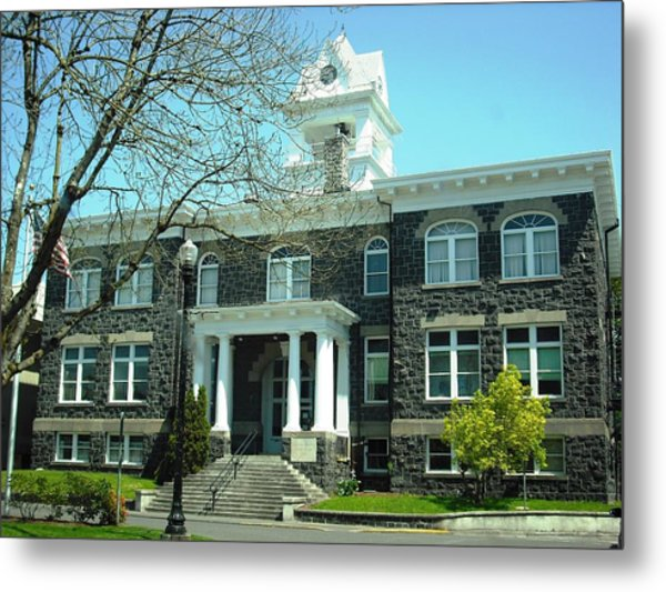 Columbia County Courthouse Saint Helens Metal Print