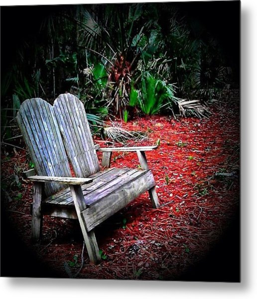 Come Sit With Me - I Could Use The Metal Print