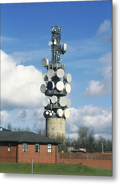 Communications Tower Metal Print by Andrew Lambert Photography