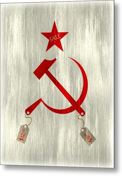 Communism Vs. Capitalism Metal Print by Bojan Bundalo